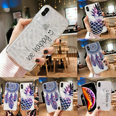For iPhone XS MAX XR X 7 8 6 Plus Silicone Soft Cover Crystal Diamond Phone Case