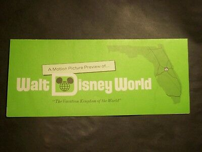 RARE 1971 Walt Disney World BROCHURE Requesting A Motion Picture Preview of WDW