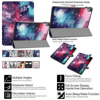 10 Patterns Leather Smart Case Rotating Cover for Apple iPad Pro 11