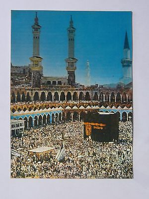 Stereo 3D Postcard-The Holy Ka'aba in Mecca,Prophet's Holy Mosque in Medina