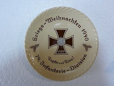 WWII -  Christmas Plate from the 79th Infantry Division(Wehrmacht) 1940
