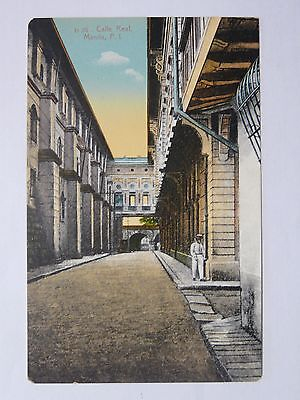 D35 Calle Real, Manilla P.I. (Denniston's) EARLY 1900's POSTCARD