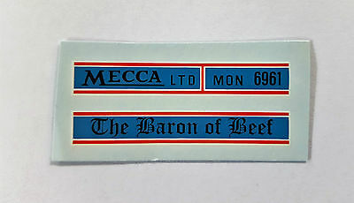 Matchbox 1-75 5B Routemaster Bus - The Baron of Beef Decal /Transfer