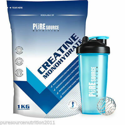PSN 100% Pure Micronized Creatine Monohydrate Powder With Free Shaker 4 Sizes