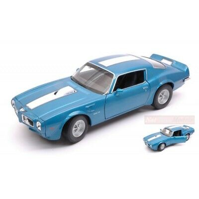 Welly We24075B Pontiac Firebird Trans Am 1972 Blue W/white Stripe 1:24-27 Model