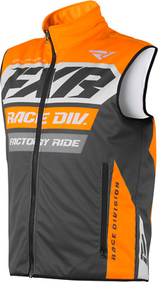 New 2019 FXR RR Insulated Motocross Enduro Vest Charcoal/Orange/Grey