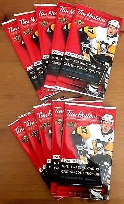 2018-19 18/19 Tim Hortons Ud Hockey Cards 10 New Unopened Packs L@@k Relics ??