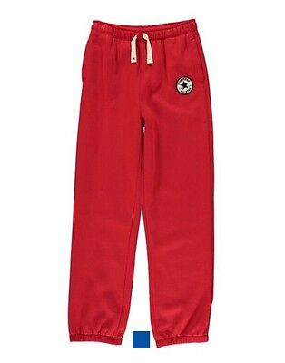 CONVERSE All Star Boys Knit Joggers / Trousers Boys Red 12-13 Years L
