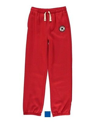 CONVERSE All Star Boys Knit Joggers / Trousers Boys Red 10-12 Years M BNWT