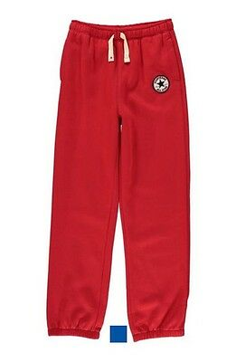 CONVERSE All Star Boys Knit Joggers / Trousers Boys Red 3-4 Years BNWT