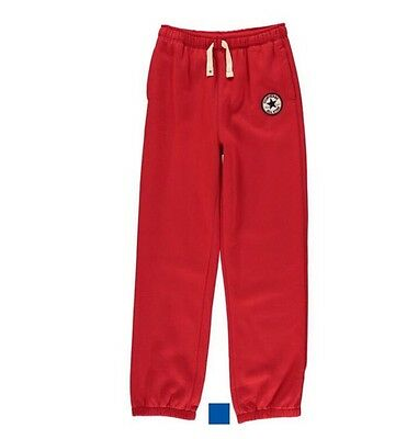 CONVERSE All Star Boys Knit Joggers / Trousers Boyd Red Size 5-6 Years BNWT