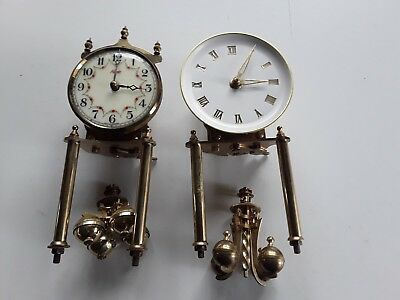 400 Day Kundo Clock Movements With Pendulums For Spares Or Repair
