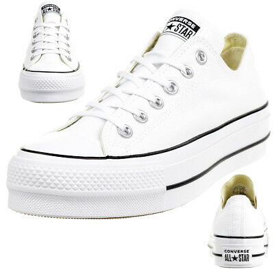 Converse C Taylor All Star LIFT OX Chuck plateau Sneaker canvas white 560251C