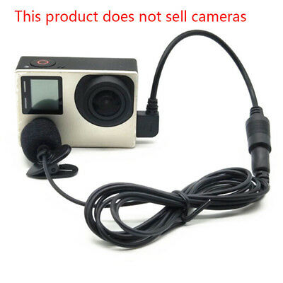 Mini microphone Mic Adapter Cable Set Accessory For Gopro HD Hero 4 3/3+ Camera