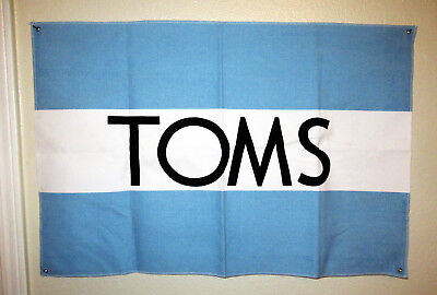 "New! TOMS Shoes Canvas Large Indoor Store Wall Banner 30"" x 20"" Advertising Sign"