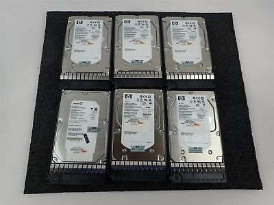 Lot Of (6) Hp/seagate Harddrives 5X Hp 146Gb | 1X Seagate 750Gb Hard Drives