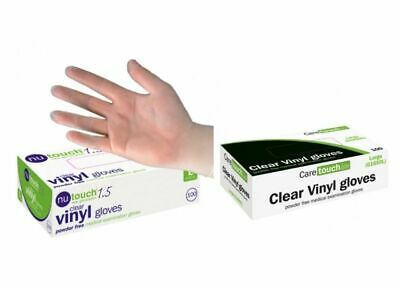 NuTOUCH Disposable Clear Vinyl Powder & LATEX FREE Gloves 10 100 200 4000 *CHEAP