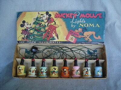 Mickey Mouse Christmas Lights By Norma (IN BOX)  1939 era.