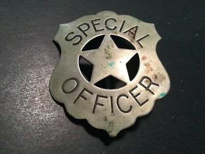 Antique Special Officer Western Badge Obsolete C Clasp Circa 1900 Pin Back