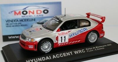 Hyunday Accent Wrc Rally Montecarlo 2003 Loix/Smeets #11  1:43 Dearally07 Model
