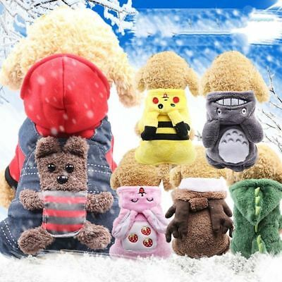 Winter Pet Dog Sweater Hoodie Clothes Cartoon Coat Puppy Warm Costume Apparel