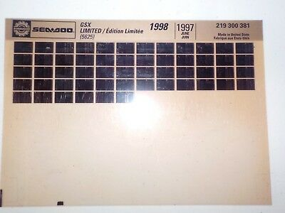 1998 Sea Doo Microfiche Parts Catalog GSX Limited 5625 219 300 381