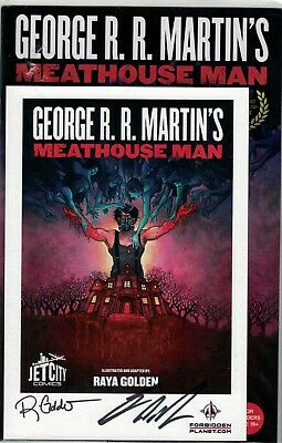 SIGNED RARE George RR Martin Meathouse Man comic and card
