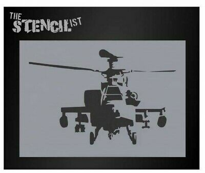 Banksy Apache helicopter wall art stencil,Strong,Reusable,Recyclable