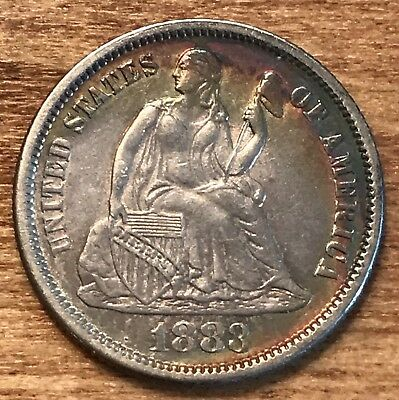 1883 Seated Liberty Dime Unc Love Token