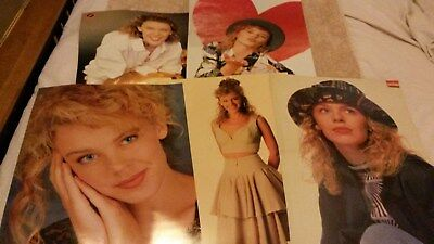 RARE Collection of 5 Kylie Minogue Aussie Magazine Large Posters 1980's