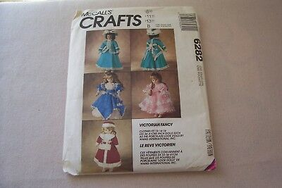 Vtg McCall's Victorian Fancy Dress Pattern #6282 Clothes fit  13-14-16 inch Doll