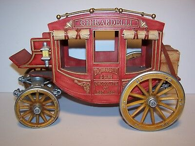 Ghirardelli & Sons Chocolate Co. Large Candy Box Western Stagecoach Display EUC