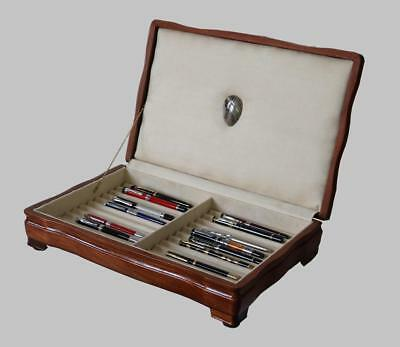 Fountain Pen Storage Display Chest, #620, Hand-Crafted, Mahogany, 22 Pens, Usa