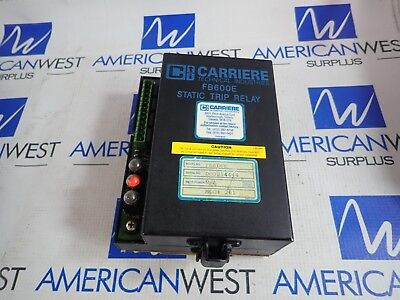 FB600E Carriere Static Trip Relay MOD#261