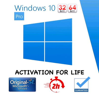 Microsoft Windows 10  Pro Professional Activation Licence Product Key 32/64