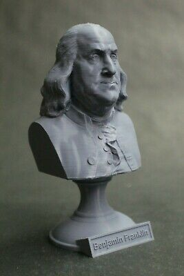 Benjamin Franklin 5 inch 3D Printed Bust USA Founding Father Art FREE SHIPPING