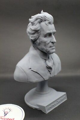 Andrew Jackson 5 inch 3D Printed Bust USA President #7 Art FREE SHIPPING