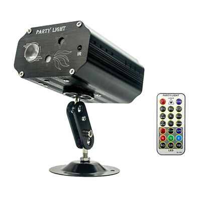Laser LED Sound-Activated Party Light Strobe RB Beamer with Remote Control.