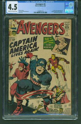 Avengers #4 CGC 4.5 (C-OW) 1st Silver Age Captain America