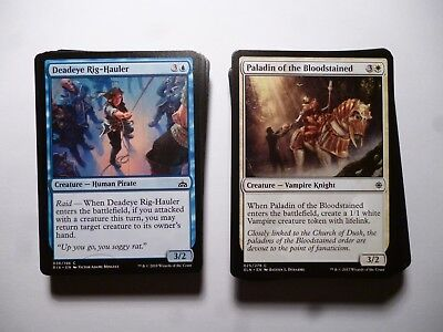 Magic the Gathering Bulk Common cards X 100 SELECT YOUR BLOCK N/M condition