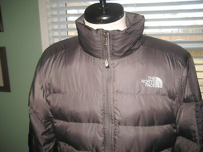 BOY'S YOUTH THE NORTH FACE PUFFY DOWN FILLED 500 WINTER COAT sz 18-20 (XL) BLACK
