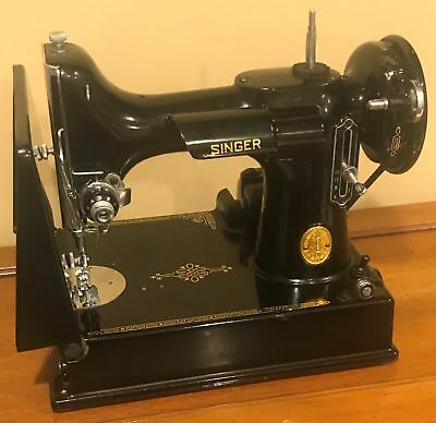 1950 Singer Portable Electric Sewing Machine 221-1 Case & All Accessories Mint