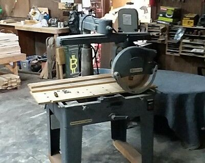 "Rockwell / Delta Radial Arm Saw 16"" 5HP single phase used/ great condition"