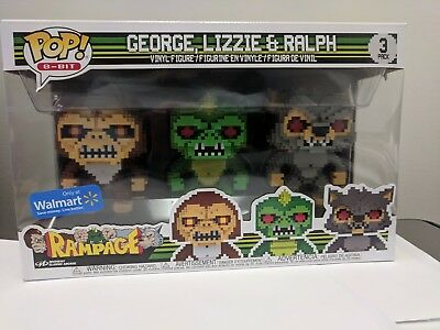 Lizzie Ralph 3pack 8 Bit George Rampage Funko Pop Vinyl Uk Toys Games Tv Movie Video Game Action Figures