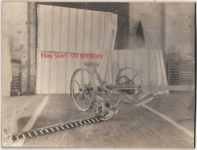 RARE Prototype Sickle Bar Mower Photo - Robinson 1890 International Harvester?