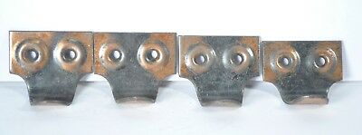 Lot of 4 Vintage Copper Flash Window Pulls Sash Japanned