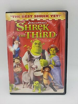 Shrek The Third DVD Used 2007 Full Screen 097361312149 Children's Comedy U S A