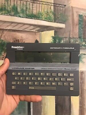 Franklin Language Master LM 2000 Electronic Dictionary Thesaurus Spell Corrector