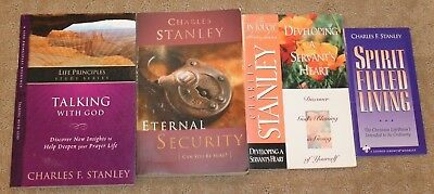 Lot 4 Charles Stanley ~ Eternal Security, Talking With God, Spirit Filled Living