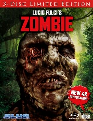ZOMBIE New Blu-ray 3 Disc Limited Edition Cover C Worms Lucio Fulci Zombi 2